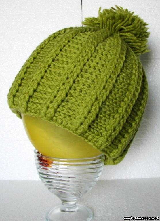 Вязания крючком шапочки осенней